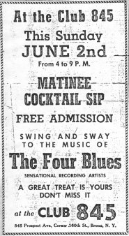 Ad - Four Blues At Club 845