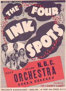 Gale Agency Poster-'The Four Ink Spots'