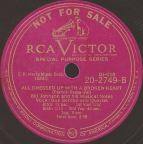 RCA Victor Label-All Dressed Up With A Broken Heart-1948
