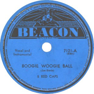 Beacon Label-5 Red Caps-1944