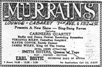 Ad For The Cabineers