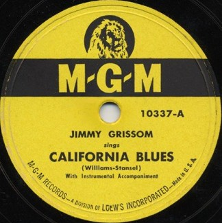M-G-M Label-California Blues-1949