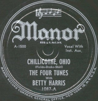 Manor Label-Chillicothe, Ohio-The Four Tunes With Betty Harris-1947