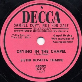 Decca Label-Crying In The Chapel-1953