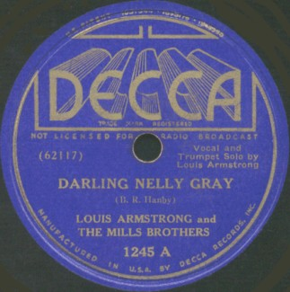 Decca Label-Darling Nelly Gray-Louis Armstrong And The Mills Brothers-1937
