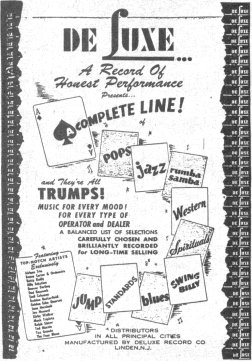DeLuxe Records Ad