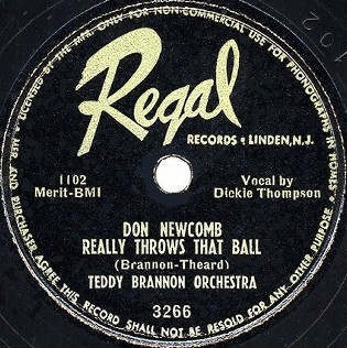 Regal Label-Don Newcomb Really Throws That Ball-1950