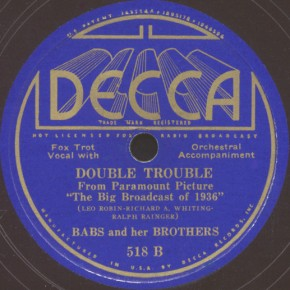 Decca Label-Double Trouble-1935