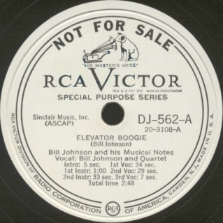 RCA Victor Label-Elevator Boogie-1948