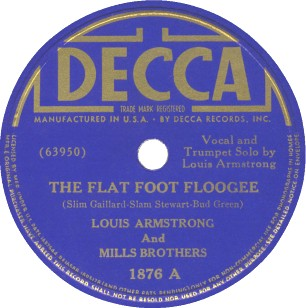 Decca Label-Louis Armstrong And Mills Brothers-1938