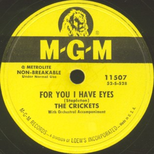 MGM Label-For You I Have Eyes-1953