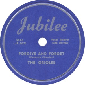 Jubilee Label-The Orioles-1949