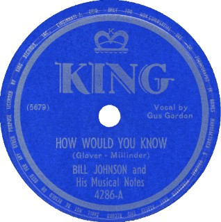 King Label-Old Bojangles Is Gone-Bill Johnson And His Musical Notes-1949