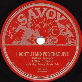 Savoy Label-I Don't Stand For That Jive-1944
