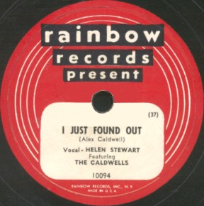 Rainbow Label-I Just Found Out-The Caldwells-1949