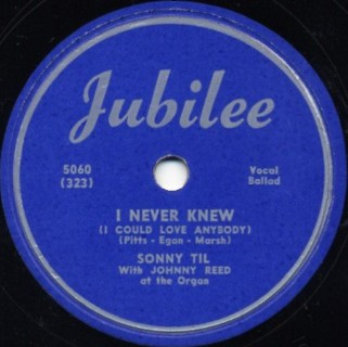 Jubilee Label-I Never Knew-1951