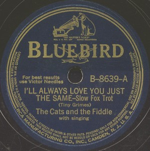 Bluebird Label-Cats And The Fiddle-1941