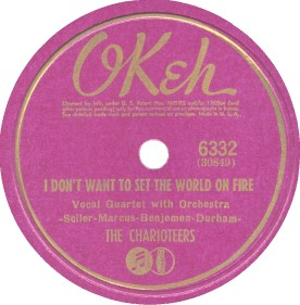 Okeh Label-The Charioteers-1941