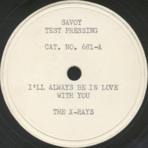 Savoy Test Pressing Label