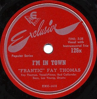 Exclusive Label-I'm In Town-1949