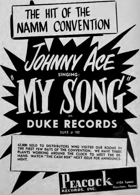 """Résultat de recherche d'images pour """"johnny ace my song"""""""