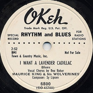 Okeh Label-I Want A Lavender Cadillac-1951