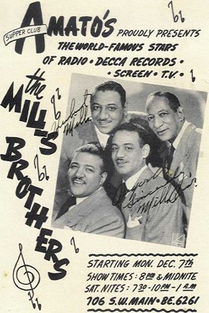 The Mills Brothers Poster