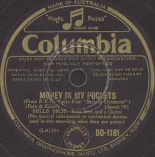 Columbia Label-Mills Brothers-1934