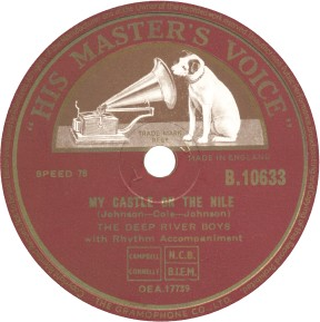 His Master's Voice Label-Deep River Boys-My Castle On The Nile-1955