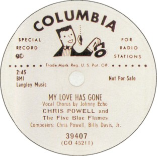 Columbia Label-My Love Has Gone-1951