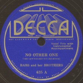 Decca Label-No Other One-1936