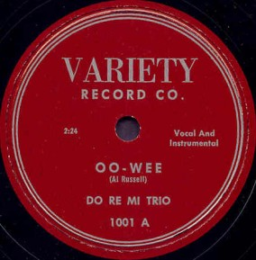 Variety Label-Do Re Mi Trio-1953