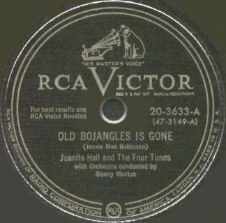 RCA Victor Label-Old Bojangles Is Gone-Juanita Hall And The Four Tunes-1950