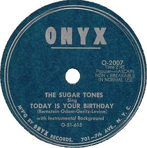Onyx Label-The Sugar Tones-1951
