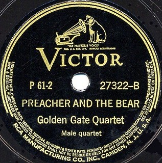 Victor Label-Preacher And The Bear-1941