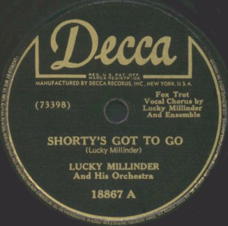 Decca Label-Shorty's Got To Go-Lucky Millinder Orchestra-1946