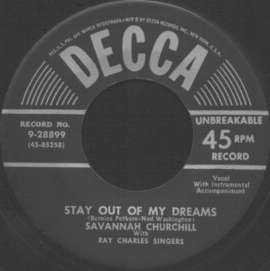 Decca Label-Stay Out Of My Dreams-1953