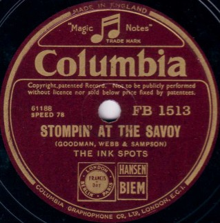 Columbia Label (England)-The Ink Spots-1936