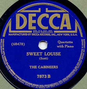 Decca Label-The Cabineers-1941
