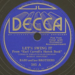 Decca Label-Let's Swing It-1935