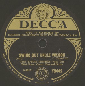 Australian Decca Label-The Three Peppers-1939