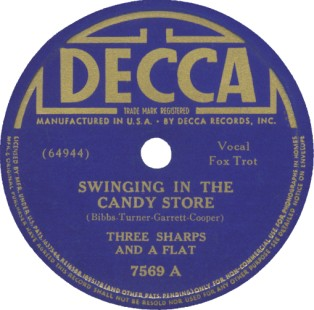 Decca Label-Three Sharps And A Flat-1939