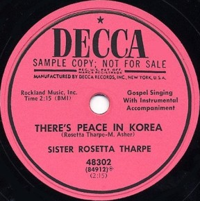 Decca Label-There's Peace In Korea-1953