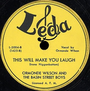 Leda Label-This Will Make You Laugh-Ormonde Wilson And The Basin Street Boys-1950