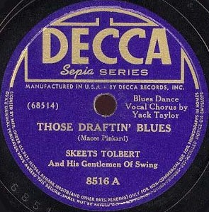 Decca Label-Those Draftin' Blues-1941