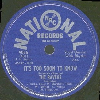 National Label-It's Too Soon To Know-1948