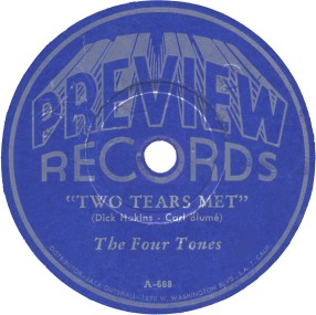Preview Label-Two Tears Met-The Four Tones-1945