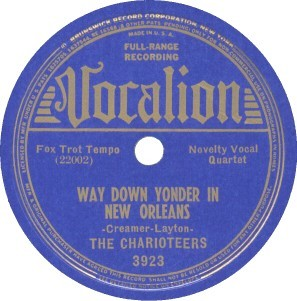 Vocalion Label-The Charioteers-1938