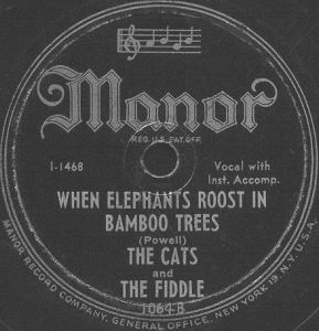 Manor Label-Cats And The Fiddle-1947