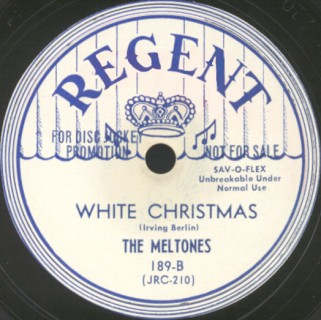 Regent Label-White Christmas-The Meltones-1951